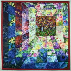 Window in Time fabric art