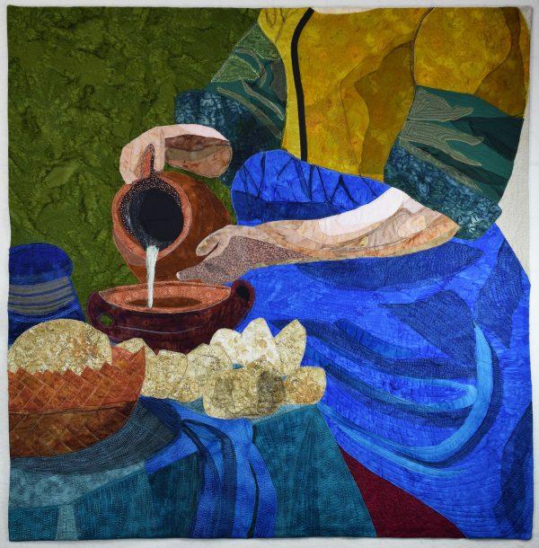Land of Flowing Milk fabric art