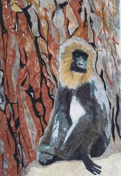 Monkey Business quilt art