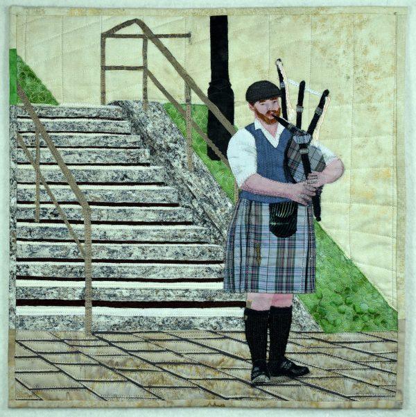 Musical Scot fabric art