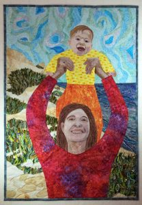 New Life in an Old Land fabric art