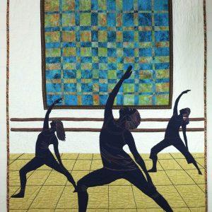 Studio Dancers fabric art
