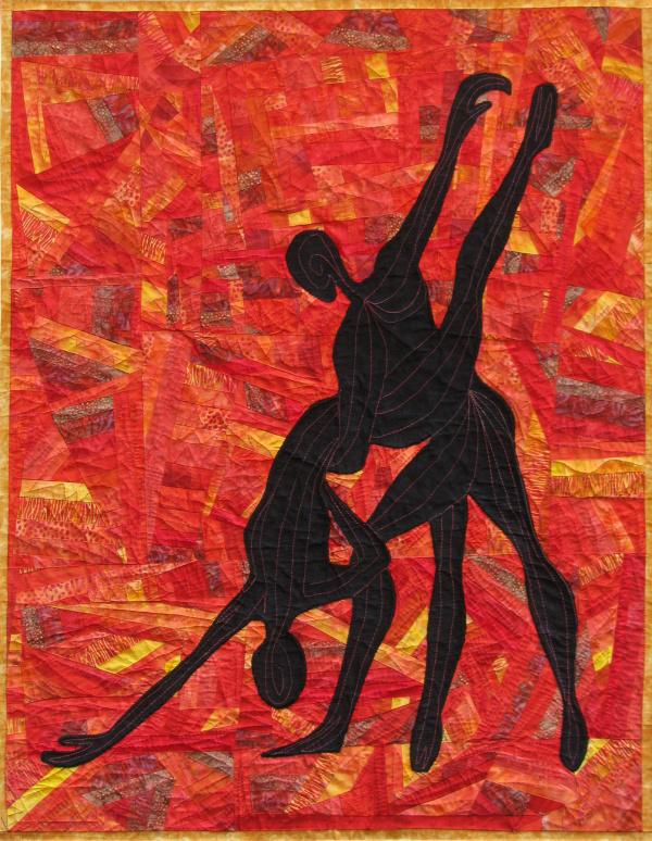Tango Dancers fabric art